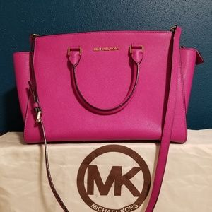 Michael Kors Selma Large Saffiano leather satchel